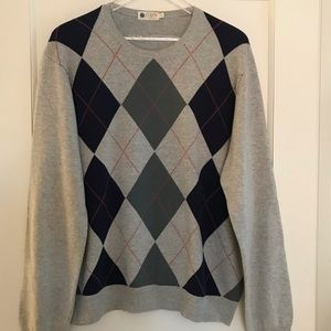 J. Crew Crewneck Argyle Cotton Sweater